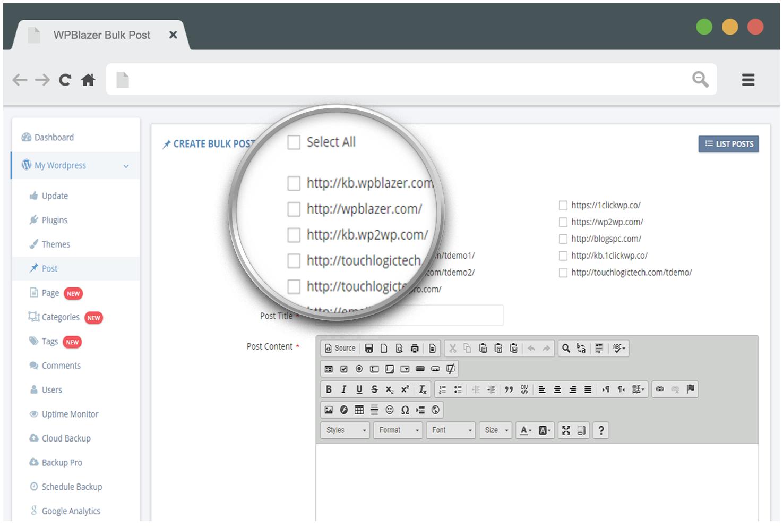 WordPress bulk edit posts